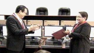 Enrique Mendoza presentó equipos para modernizar procesos en el PJ