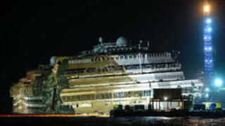Italia: ingenieros lograron enderezar con éxito el Costa Concordia
