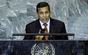 Presidente  Ollanta Humala intervino en debate de Asamblea General ONU