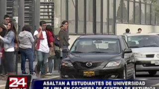 Asaltantes agreden y roban a cuatro estudiantes de la Universidad de Lima