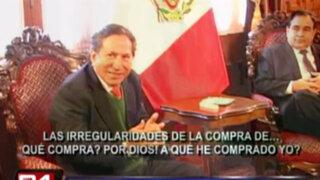 Presidente del Congreso negó que haya blindaje para el expresidente Toledo