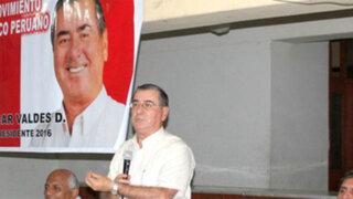 Ex premier Oscar Valdés lanzó su candidatura a la Presidencia de la República