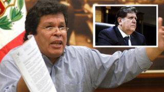 Congresista Benitez pide desactivar Megacomisión y denunciar a Alan García