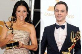 Julia Louis-Dreyfus y Jim Parsons volvieron a coronarse en los Emmy Awards 2013