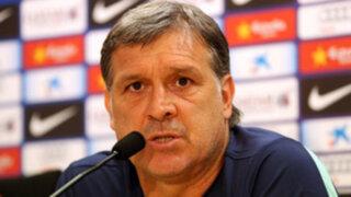 Gerardo Martino: Tomaremos riesgos en el clásico, somos el Barcelona