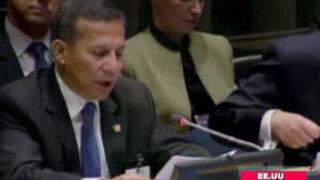 Humala anunció que los objetivos del Perú apuntan a industrializar su economía