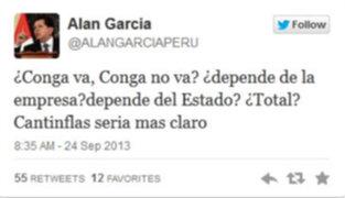 Alan García: Cantinflas sería más claro que Humala en el tema Conga