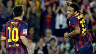 Barcelona goleó 4-1 al Real Sociedad con tantos de Messi y Neymar