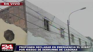 Proponen declarar en estado de emergencia el distrito del Rímac