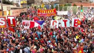 Paralización de la CGTP no afectó actividades laborales en Lima
