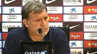 Gerardo Martino: Mi incidencia en el Barcelona de momento es mínima
