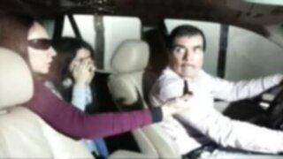 Eva Bracamonte entró a su casa en medio de incidentes con la prensa