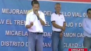 Chiclayo: Trabajadores del sector salud recibieron al presidente Ollanta con protestas