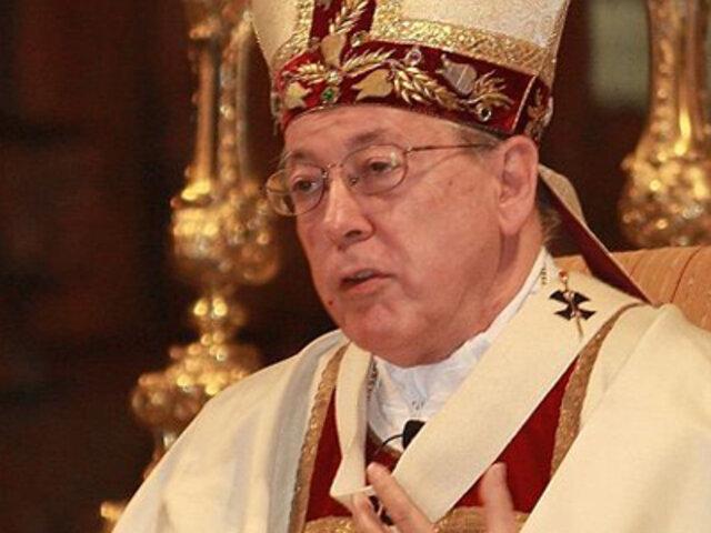 Cardenal Cipriani se despide de servicio pastoral tras 30 años