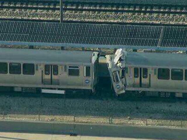 EEUU: Al menos 48 heridos deja colisión entre dos trenes en Chicago