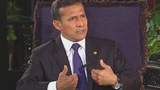 Humala: No es un problema del Estado el avance del proyecto Conga