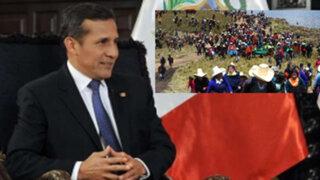"""Humala: Conga está en la """"cancha"""" de la empresa privada, no del Estado"""
