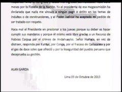Alan García: Humala está libre gracias a Recurso de Habeas Corpus