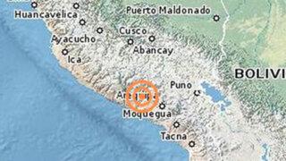 Arequipa: Sismo de regular intensidad remeció Mollendo esta mañana