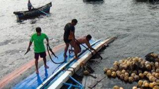 Chimbote: fuerte oleaje voltea embarcación con 10 tripulantes a bordo
