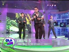 Grupo 5 hizo bailar al público de Ola ke Ase con su exitoso tema 'La revancha'