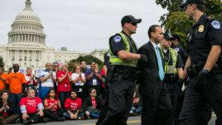 EEUU: detienen a congresistas en manifestación a favor de reforma migratoria