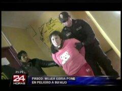 Pasco: mujer ebria es detenida por golpear a su niño de cinco años