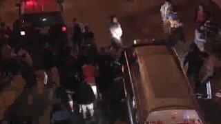 Vecinos del Rímac protagonizaron actos de violencia en vía Evitamiento