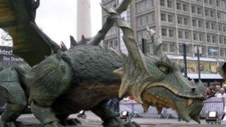 Dragón 'Traddino' entró al Récord Guiness como el robot más grande del mundo