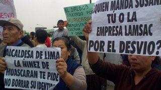 Vecinos bloquean Puente Dueñas en protesta contra obras de Vía Parque Rímac