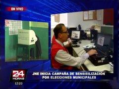 JNE lanza campaña informativa para próximo proceso electoral en Lima