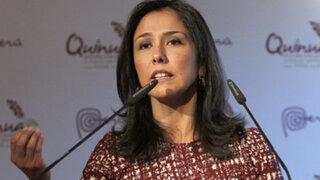 Nadine Heredia viajará a Francia e Italia por Día Mundial de la Alimentación