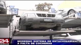Modernas plataformas solucionarán falta de playas de estacionamientos en Lima