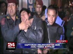 Ate Vitarte: policía logra capturar a delincuentes que asaltaban boticas