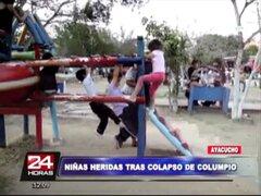 Ayacucho: niñas quedaron heridas tras caerle un columpio en mal estado