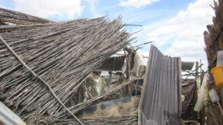 Pasco: fuertes vientos dañan viviendas en la provincia de Daniel Alcides Carrión