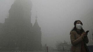 China: densa nube tóxica paraliza aeropuertos y escuelas en ciudad de Harbin
