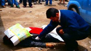 Sicarios acribillan de siete balazos a secretario de la CGTP de Barranca