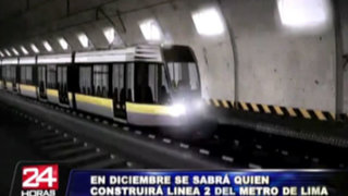 Proyecto 'Línea 2' del Metro de Lima estaría terminado en el 2016