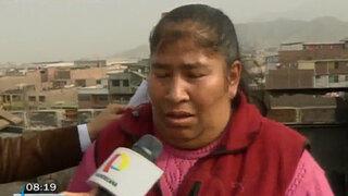 SJL: Madre de niño quemado durante incendio pide ayuda ante desalojo