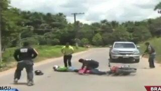 Difunden impactantes imágenes de un tiroteo entre policías y ladrones en Brasil