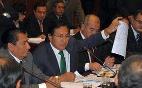 Toledo niega todos los cargos en su contra ante Comisión de Fiscalización