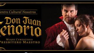 """Artistas presentan """"Don Juan Tenorio"""" en el cementerio Presbítero Maestro"""