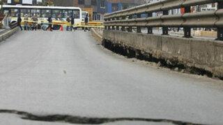 Denuncian que 53 puentes vehiculares se encuentran en total abandono en Lima