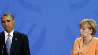 Medios alemanes afirman que Obama estaba al tanto de escuchas a Merkel