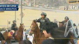 Antitaurinos se enfrentaron violentamente a la Policía en la Plaza de Acho