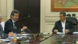Jiménez se despidió de Ollanta Humala tras su último Consejo de Ministros