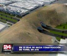En 15 días comenzará construcción de túnel en cerro Puruchuco en Ate
