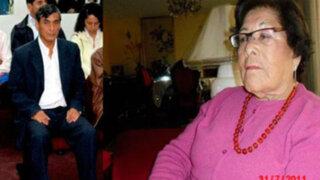 Victor Polay se despidió de los restos de su madre en la Base Naval