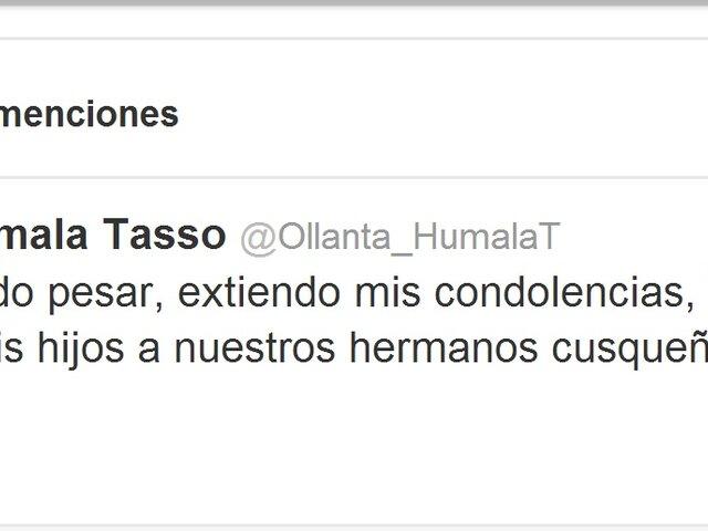 Ollanta Humala envió condolencias por accidente en el Cusco